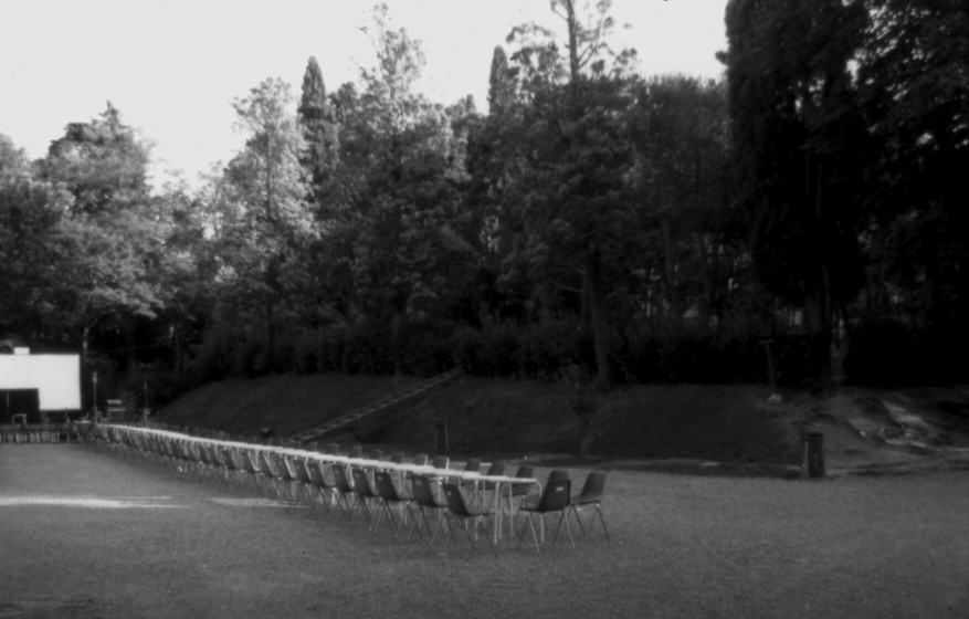 Row of chairs, Villa delle Rose Park. Bologna. Italy. 1995. Photo (copyright): Emilio Fantin