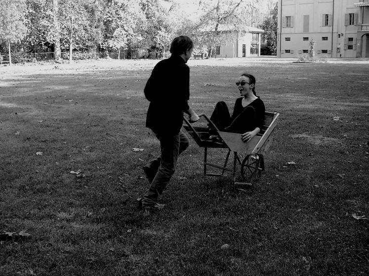 Wheelbarrow chair. S. Marino di Bentivoglio. Italy. 2011. Photo (copyright): Emilio Fantin