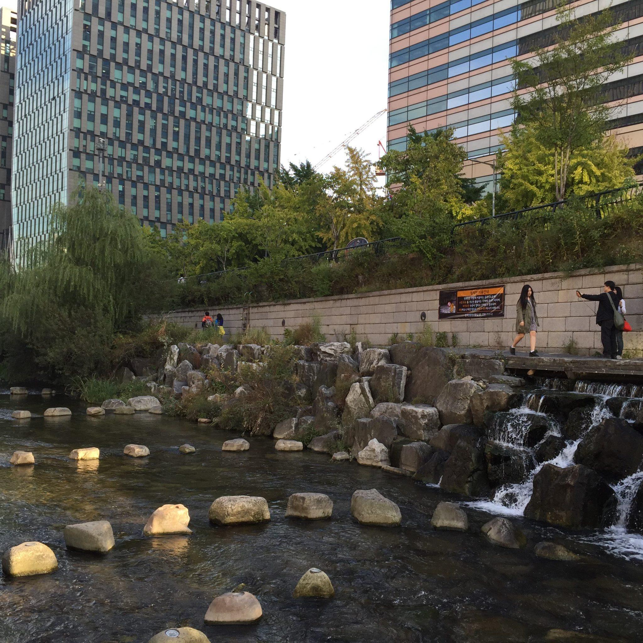Cheonggyecheon stream in Seoul. Photo: David Maddox