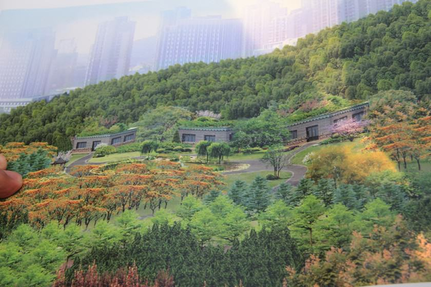 Plan for a maple nursery, which is going to be established on a reclaimed area in Jinan. Maple is in high demand today due to its relationship with traditional Chinese garden culture.