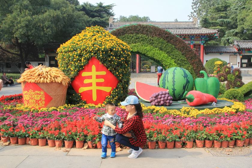 Influence of globalization: annual flower display in Jinan