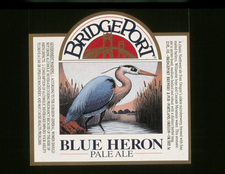 Great Blue Heron Ale label. Photo Mike Houck