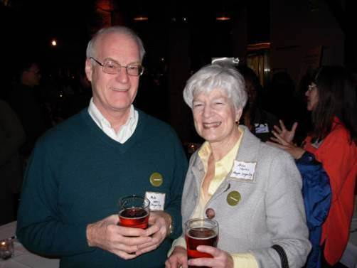Oregon City mayor with Blue Heron Ale. Photo: Mike Houck