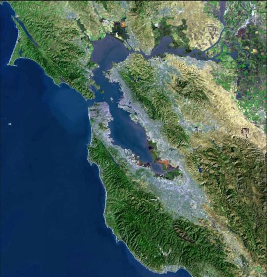 Image 14 - satellite photo of San Francisco Bay Area