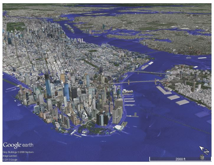 New York City under Hurricane Sandy.