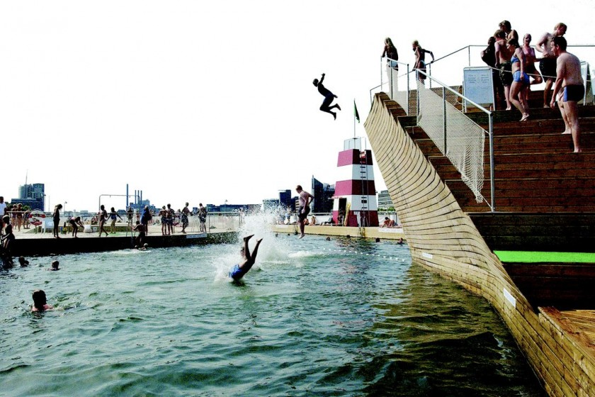Copenhagen harbor swimming