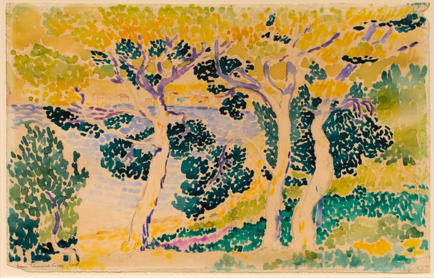 Trees by Henri Edmond Cross, 1909, Graphite and watercolor on paper