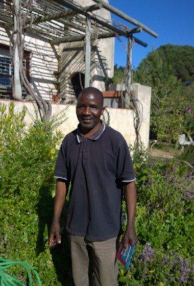 Gardener Samson Malunga.