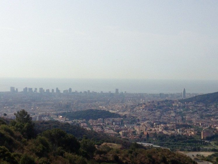 Barcelona view from the trail