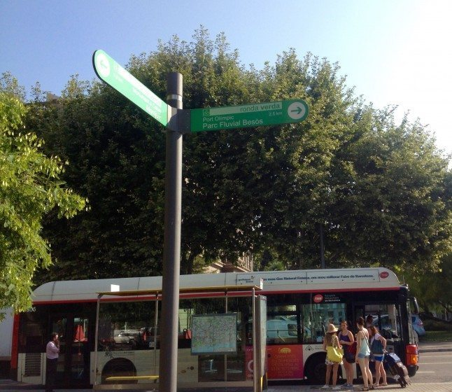 Bus and Trail sign
