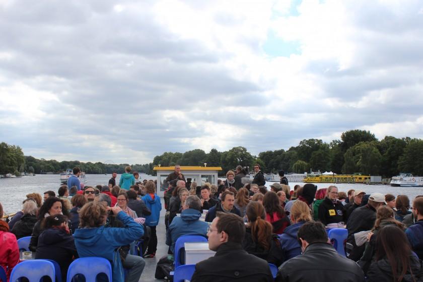 Langer Tag der Stadtnatur - Boat at Treptower Park