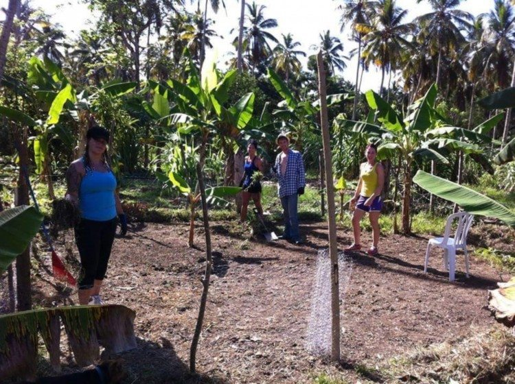 The community garden initiative designed by the Committee with collaboration from IG students, to support local revenue generation linked to tourism, Samana, Dominican Republic.