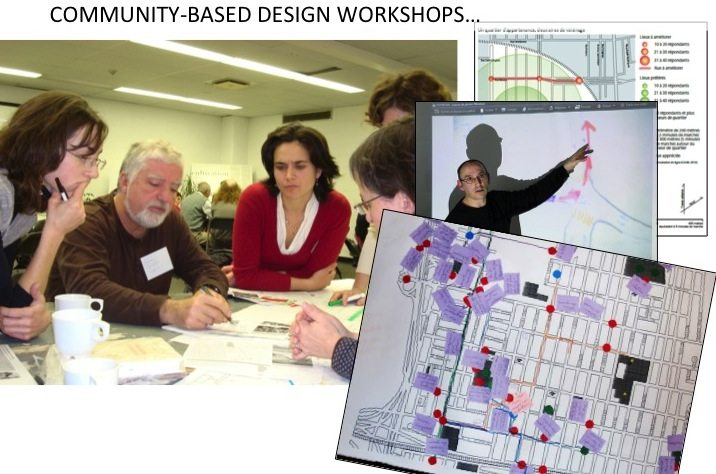 Images of the workshops with citizens, experts, and city-building professionals (Source: CÉUM)