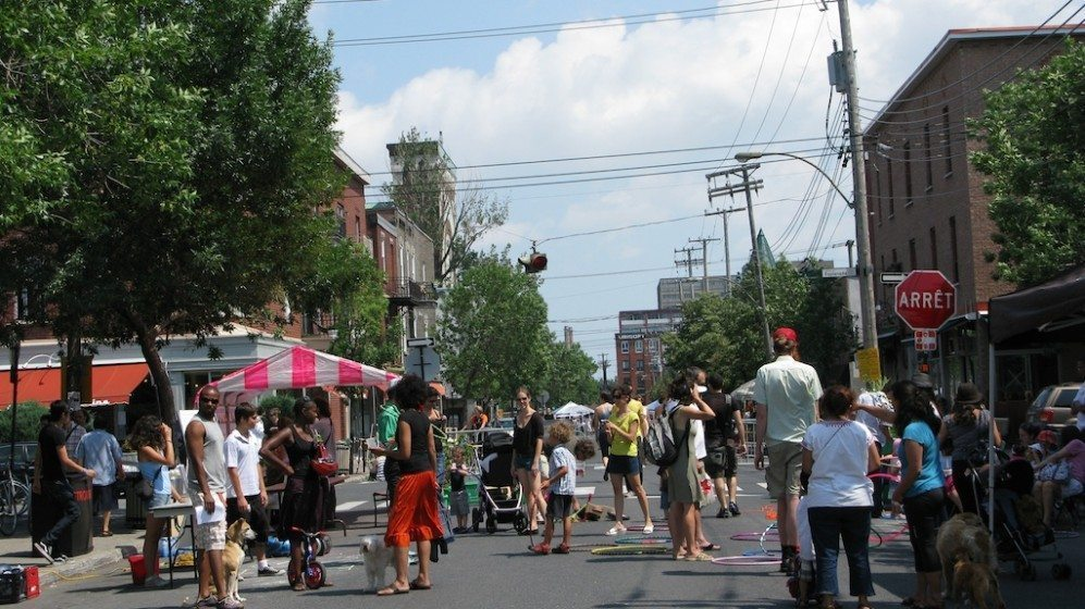 Saint-Viateur Street in the Mile-End neighborhood during a street festival. Photo: Nik Luka