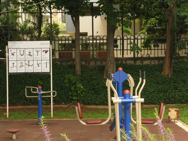 4. Outdoor exercise equipment for senior citizens at Sankey Lake