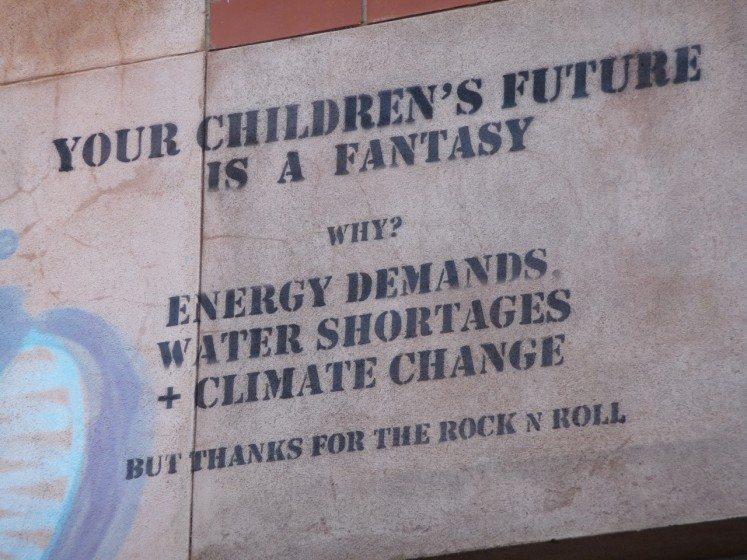 "In Adelaide, Australia ""Your children's future is a fantasy,"" Photo: Paul Downton."