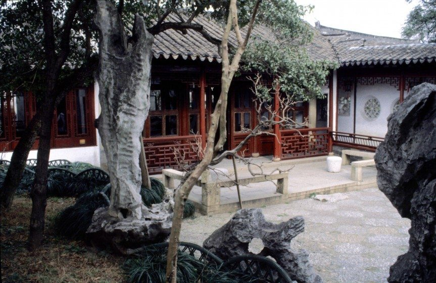Scholar's study:studio in the Master of Fishing Nets Garden Suzhou