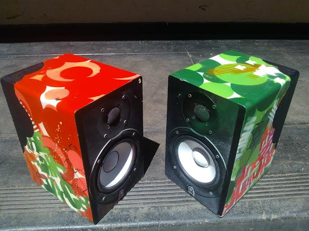 grafitti speakers