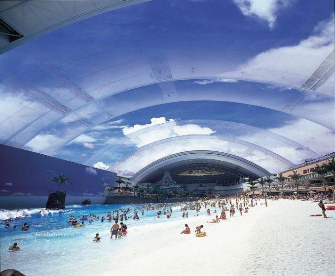 Japanese artificial beach