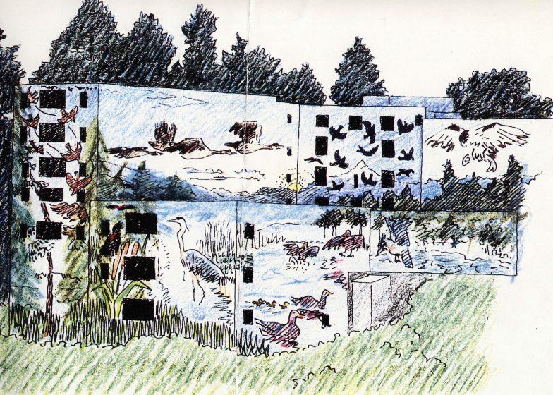 Image 4 Portland Memorial Mural Schematic, Mark Bennett, ArtFX Murals