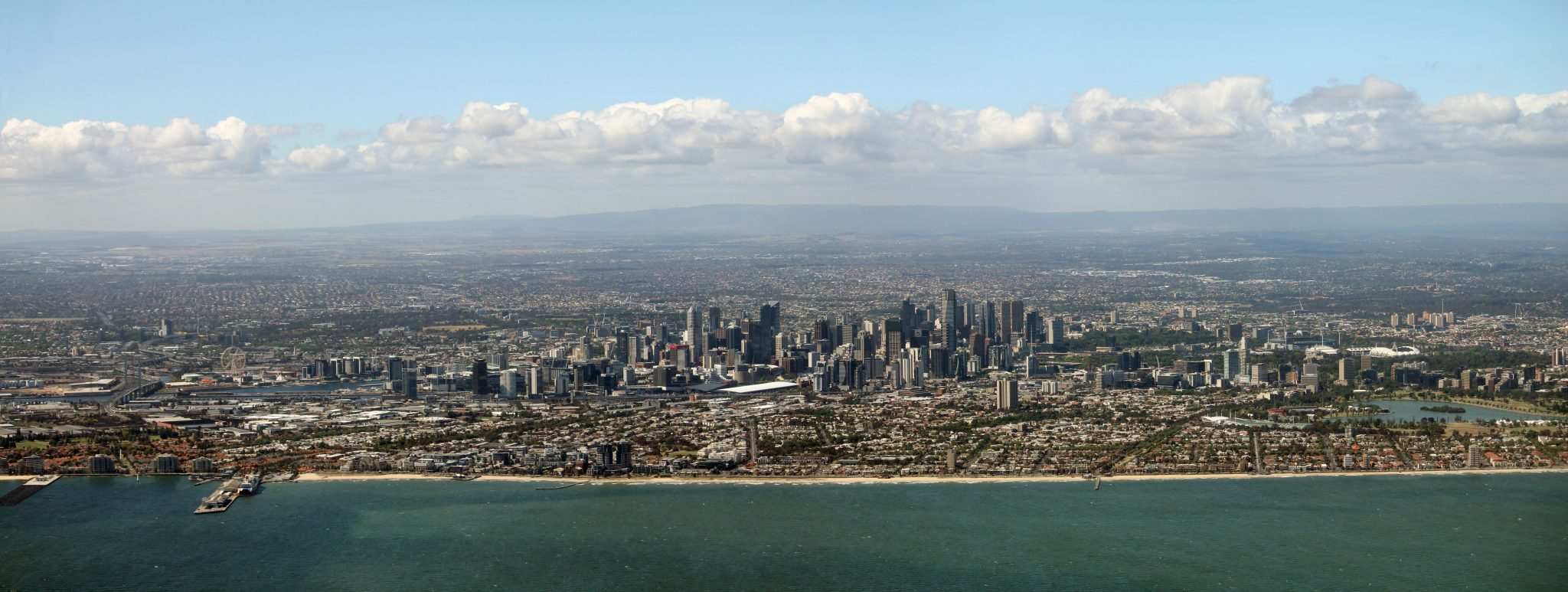 Aerial photo of melbourne Melbourne cbd Aerial Photos Airview Online