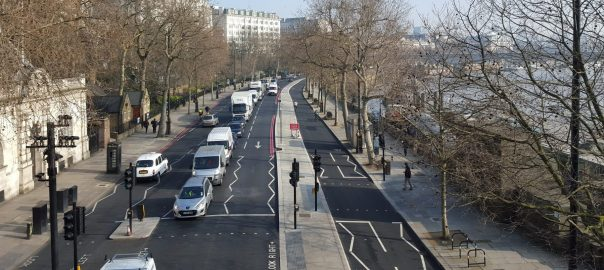 Segregated cycle routes London