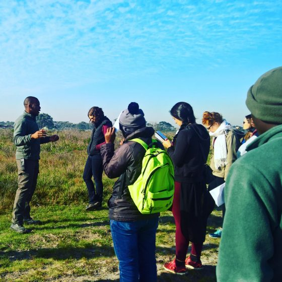 Ismail Wambi and urban ecology class UCT