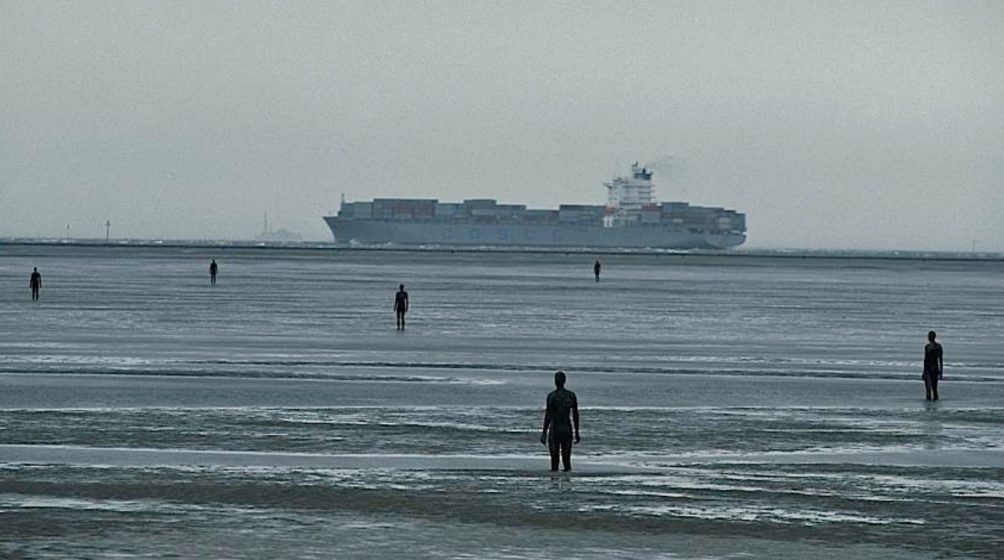 """Another Place"", sculptures by Antony Gormley."