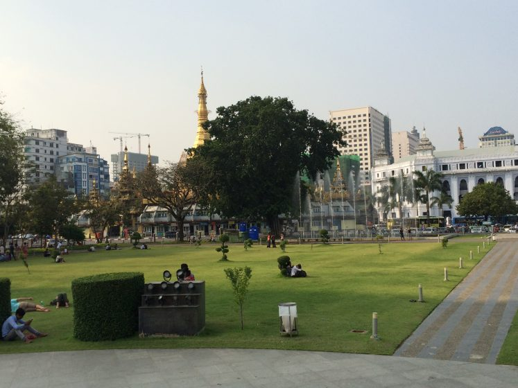 After A Busy Day In The Pulsing City Of Yangon Burma It Was Nice To Have Few Minutes Maha Bandula Park Where Locals Been Coming Sit On