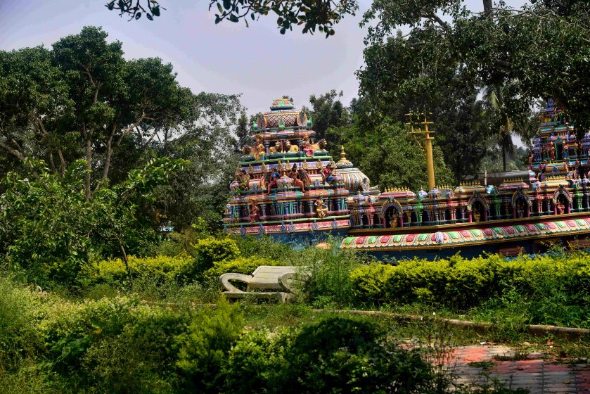 The back of the same temple, still relatively green. Photo credit: Suri Venkatachalam