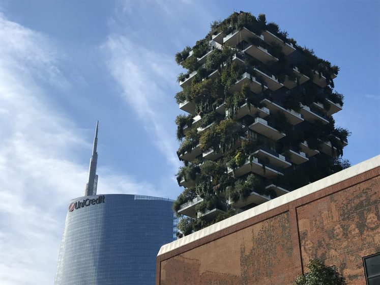 71bf78caf8 What is remarkable about these buildings is that they are festooned with  trees and shrubs. These are not buildings with conventional lightweight  green roofs ...