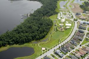 Conserved forested areas next to a lake in a conservation development – Harmony, FL.  Courtesy of Harmony Development Company.