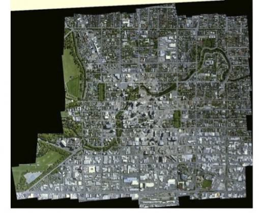 Map of central Christchurch,  December 2012. You can see from this photo of the central city below the many open spaces where buildings have been demolished. Note also the Avon River (in green) which snakes thru the middle, a zone of severe liquefaction during the earthquakes. <a href=