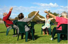 Chair Based Physio Classes in the Park with Barwon Health Photo: People and Parks Foundation
