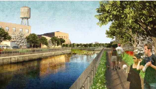"Rendering of Gowanus Canal Sponge Park."" Credit: dlandstudio"