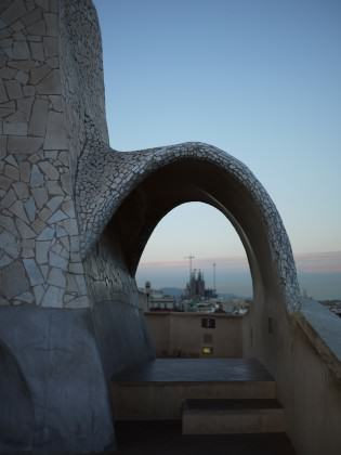 View of Sagrada Familia from La Pedrera. Photo: André Mader