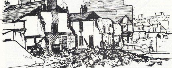 Urban 'renewal' Swansea, South Wales 1977 Drawing: Paul Downton