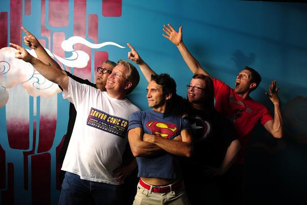 Denver Comic Con founder Charlie LaGreca, in center. Photo: Denver Post