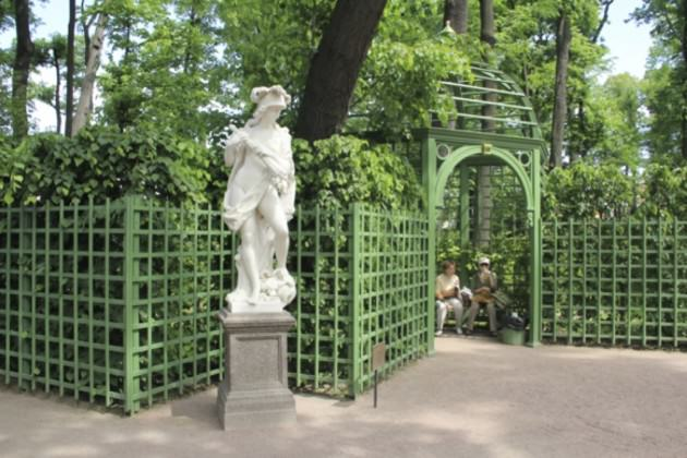 Summer Garden is the oldest St. Petersburg green area founded in 1703