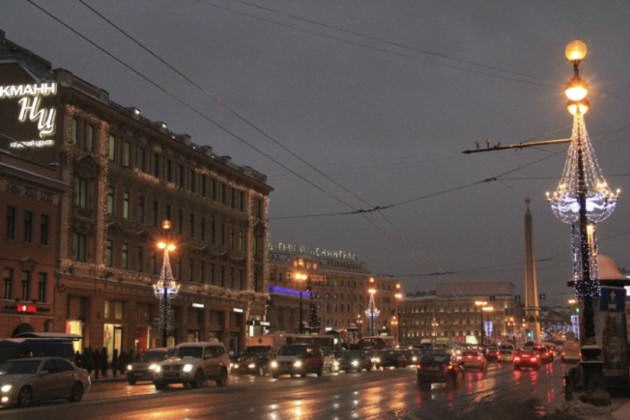 The main and the oldest street of St. Petersburg-Nevsky Prospect