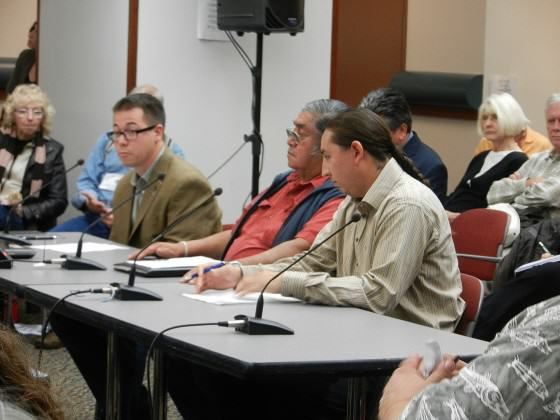 Yakama Nation and other Tribes testifying against development in 2012. Photo: Bob Sallinger