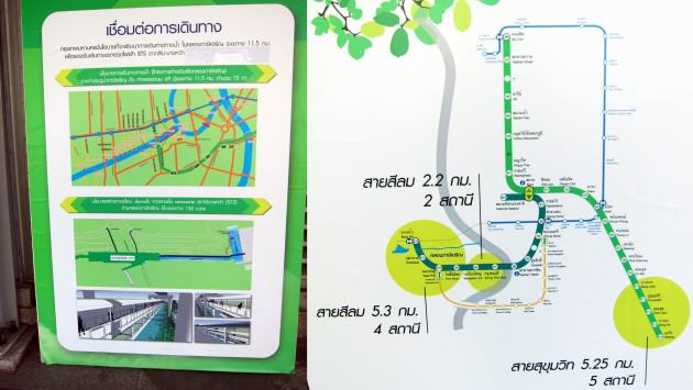 Image 3: Transit maps on display at Bang Wa BTS station. Credit: Victoria Marshall