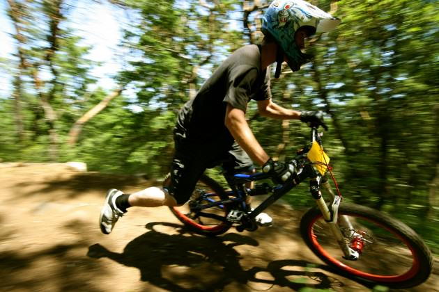 15.Mountain biker enjoying Hartland Mountain Bike Park.  Photo: Jamie Cameron