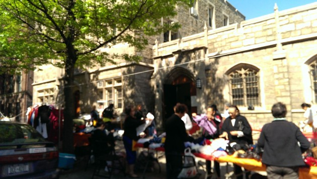 church jumble sale. Photo: Mary Rowe