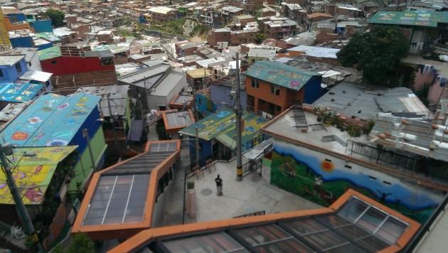 Medellín escalators. Photo: Mary Rowe.