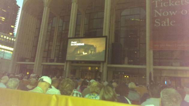 La Boheme in Lincoln Square, New York. Photo: Mary Rowe