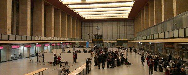 "Tempelhofer Feld Community Workshop for the park's emerging ""Development & Management Plan"", held on Friday November 28th in Tempelhof Airport Terminal Building. Photo: Katharine Burgess"