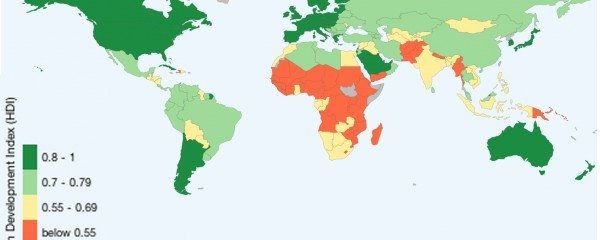 Human Developmen tIndex. Source: http://www.ourworldindata.org/data/economic-development-work-standard-of-living/human-development-index/